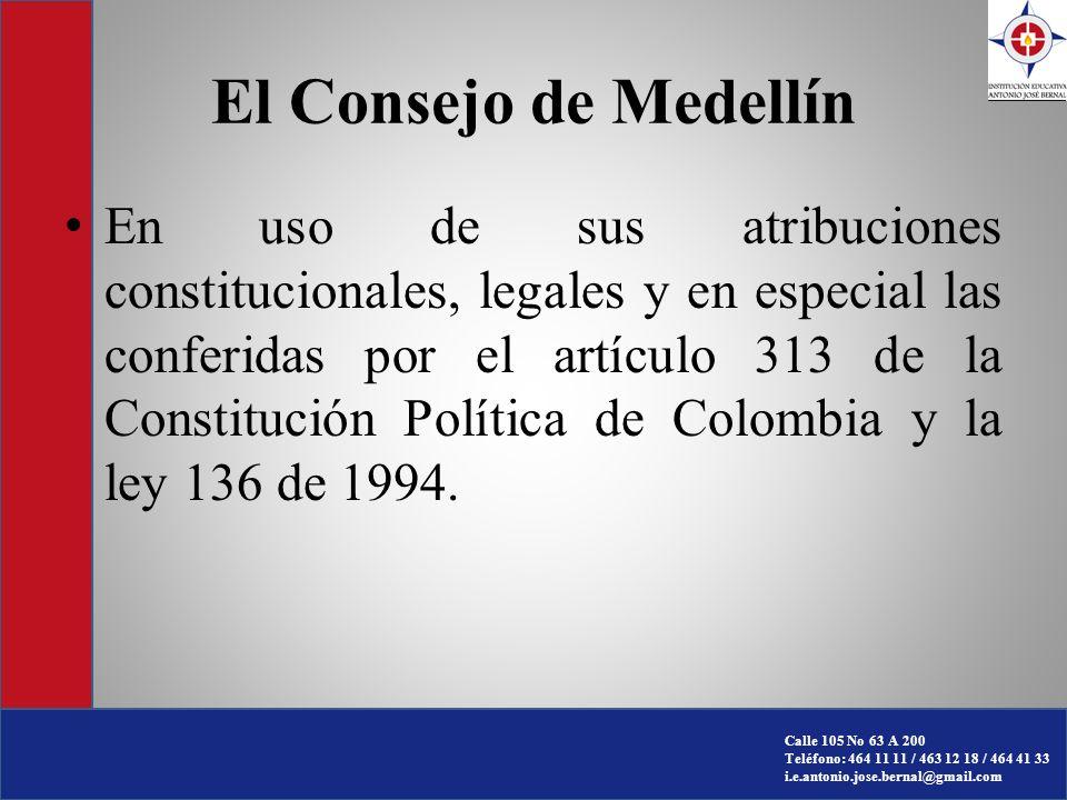 El Consejo de Medellín