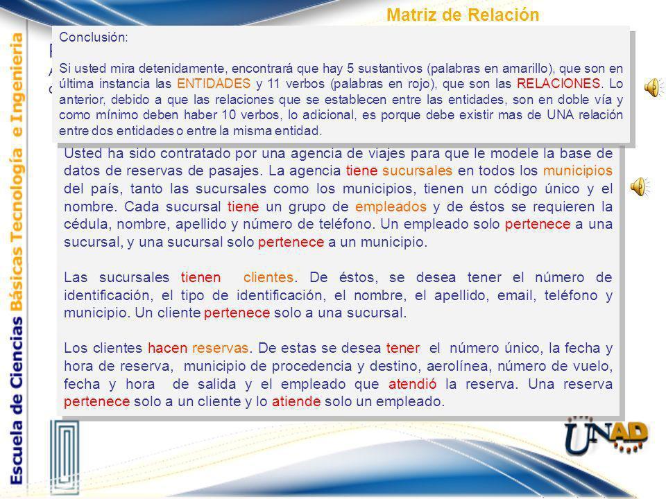 Paso 2 Matriz de Relación