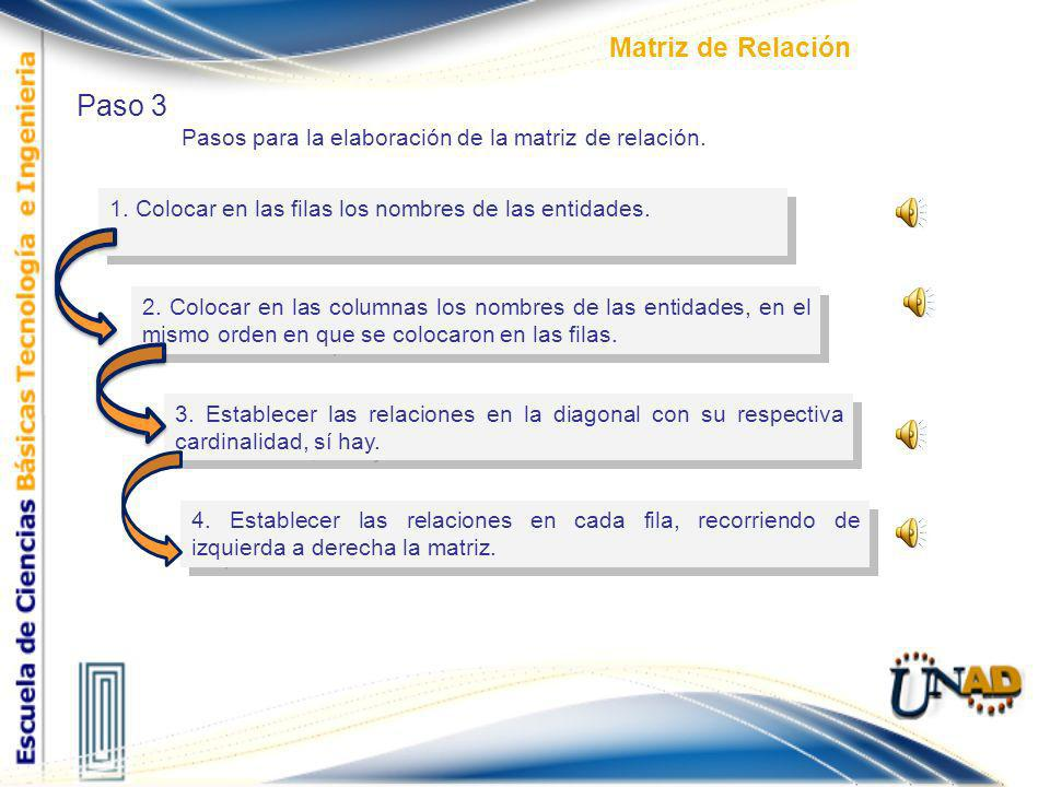 Paso 3 Matriz de Relación