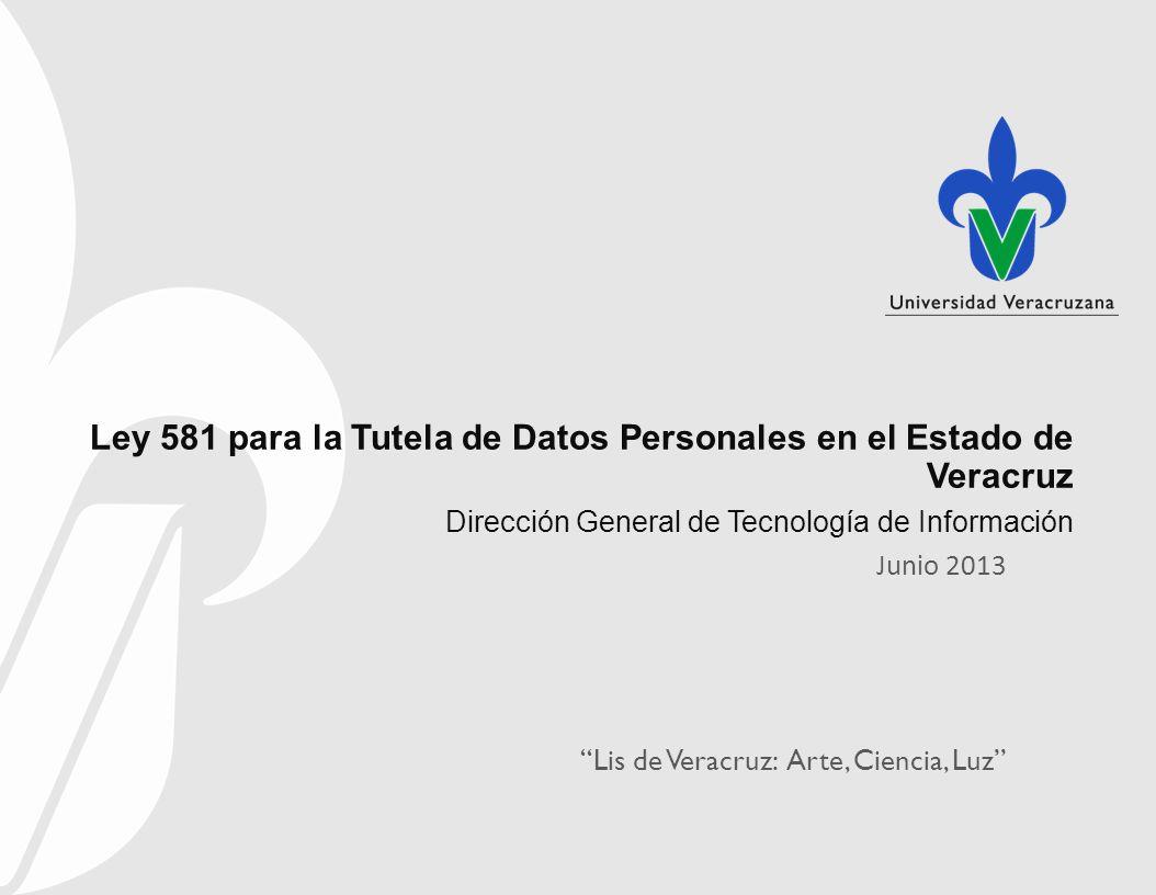 Ley 581 para la Tutela de Datos Personales en el Estado de Veracruz