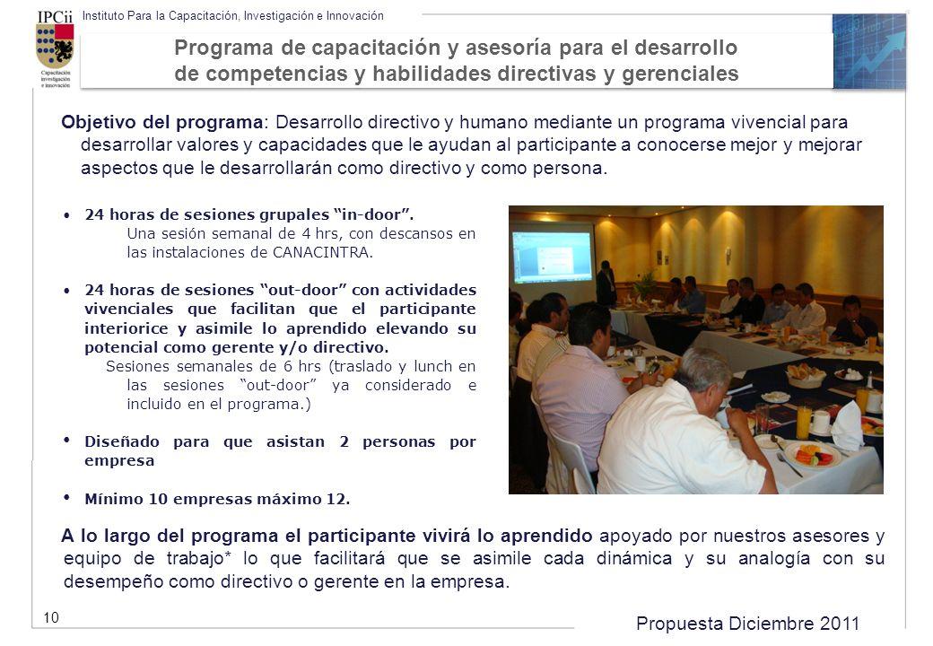 Programa de capacitación y asesoría para el desarrollo de competencias y habilidades directivas y gerenciales