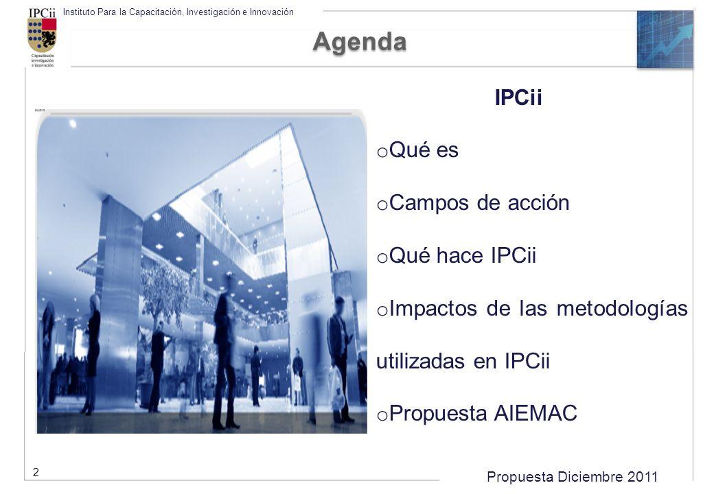 Agenda IPCii Qué es Campos de acción Qué hace IPCii