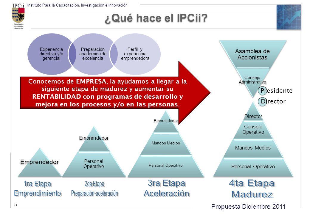 ¿Qué hace el IPCii Presidente Director