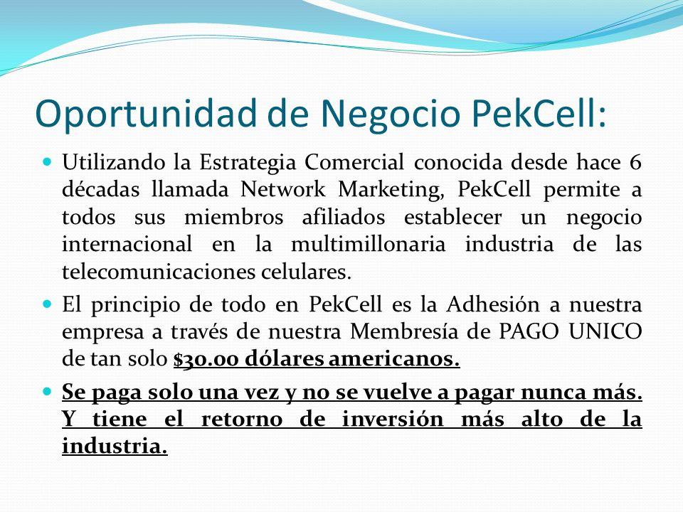 Oportunidad de Negocio PekCell: