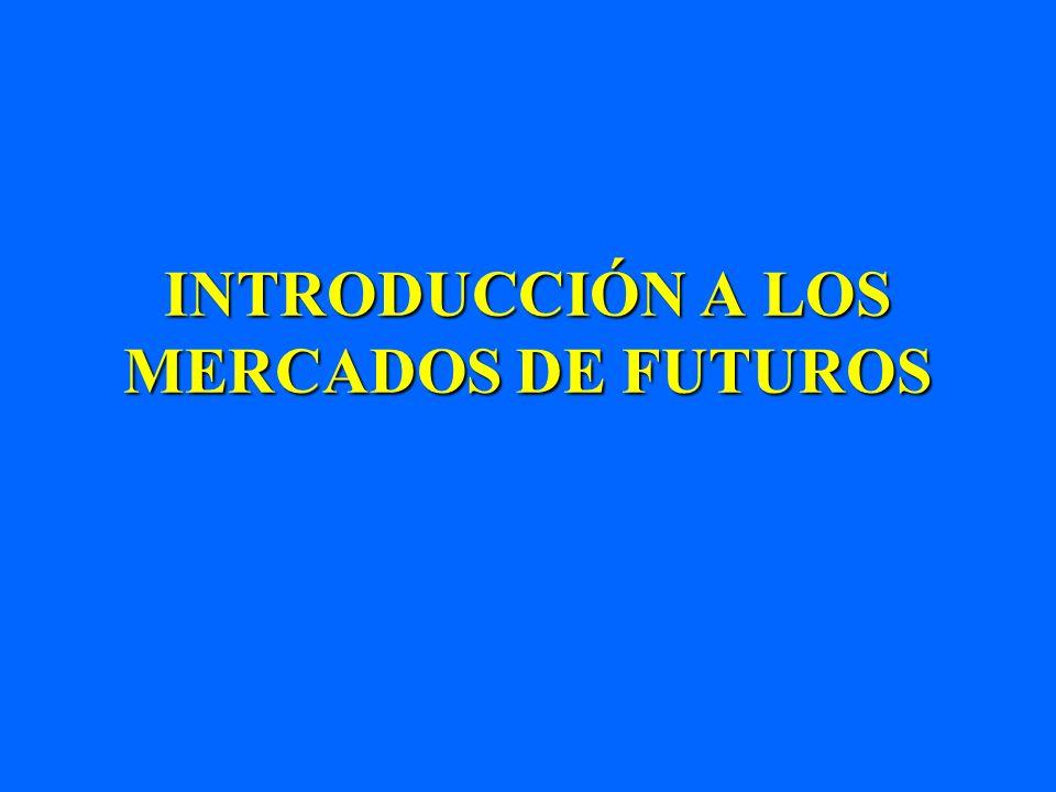 INTRODUCCIÓN A LOS MERCADOS DE FUTUROS