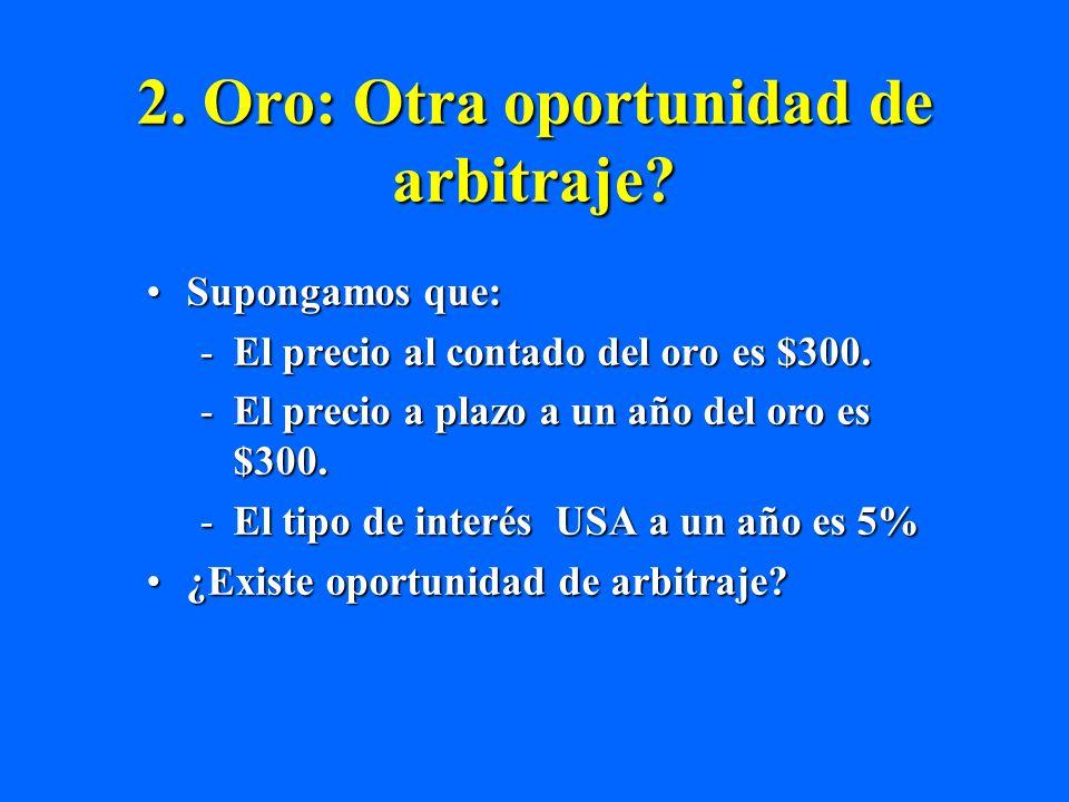 2. Oro: Otra oportunidad de arbitraje