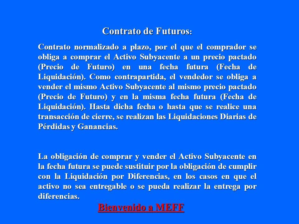 Contrato de Futuros: Bienvenido a MEFF