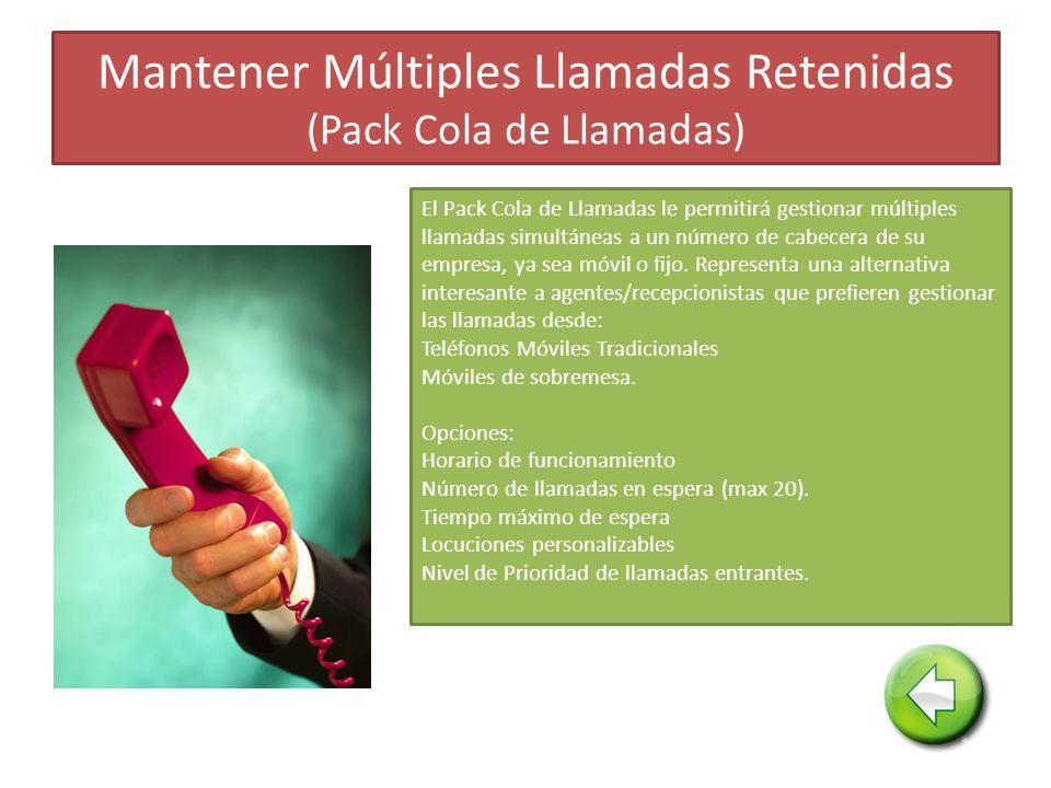 Mantener Múltiples Llamadas Retenidas (Pack Cola de Llamadas)
