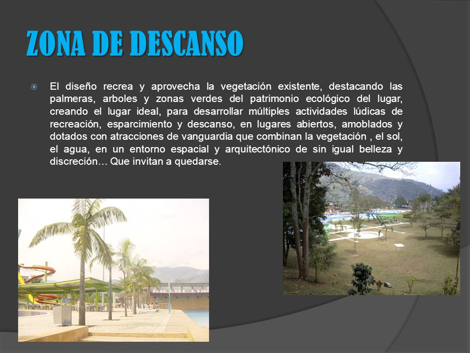 ZONA DE DESCANSO