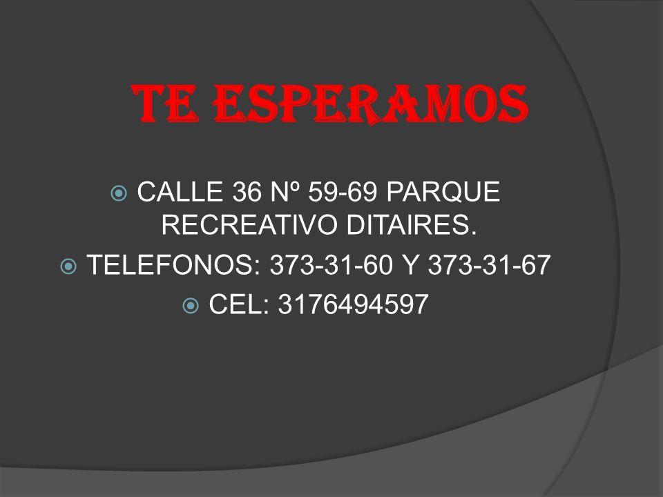 CALLE 36 Nº 59-69 PARQUE RECREATIVO DITAIRES.