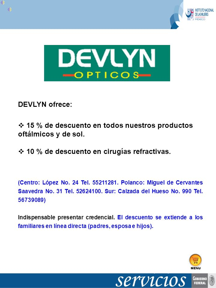 servicios DEVLYN ofrece: