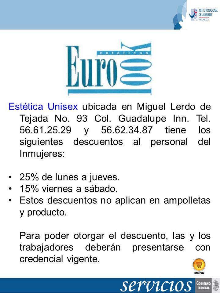 Estética Unisex ubicada en Miguel Lerdo de Tejada No. 93 Col