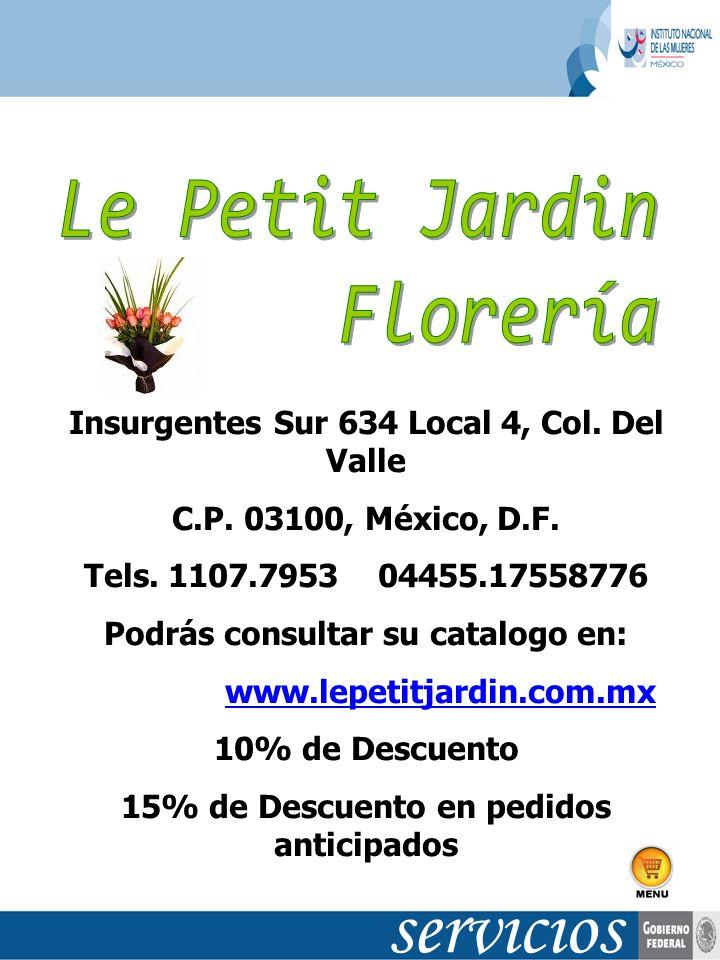 servicios Le Petit Jardin Florería