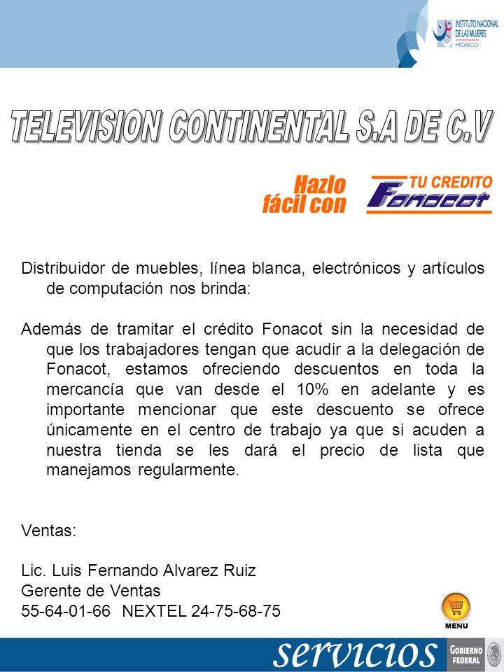 TELEVISION CONTINENTAL S.A DE C.V