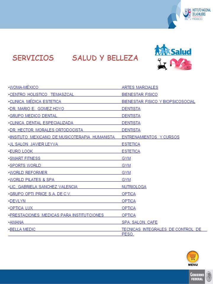 SERVICIOS SALUD Y BELLEZA