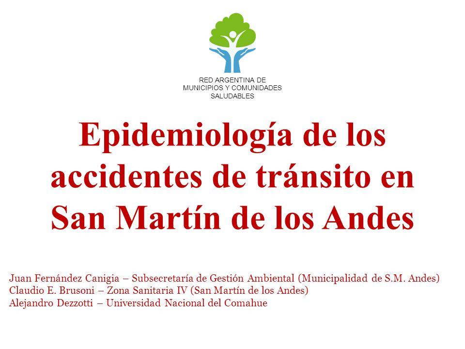 Epidemiología de los accidentes de tránsito en San Martín de los Andes