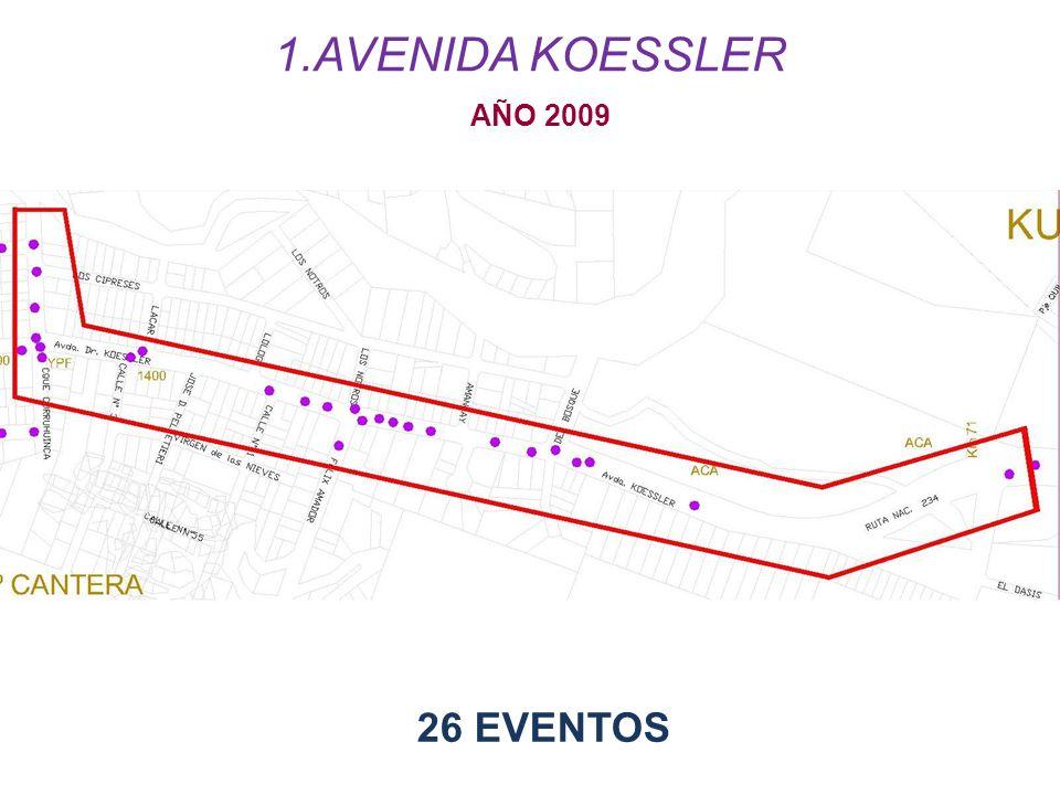 AVENIDA KOESSLER AÑO 2009 26 EVENTOS