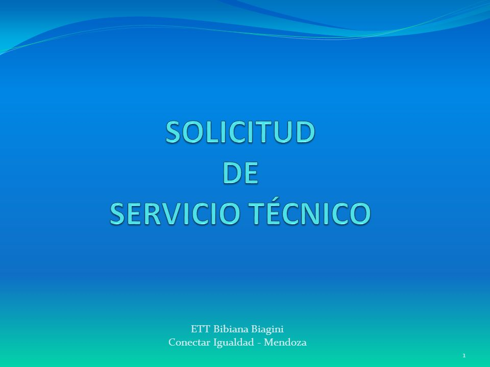 SOLICITUD DE SERVICIO TÉCNICO