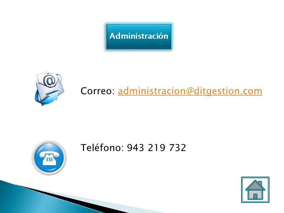 Correo: administracion@ditgestion.com