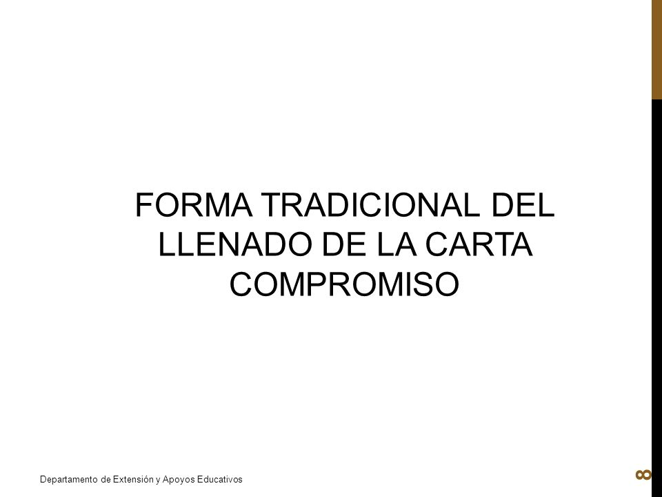 FORMA TRADICIONAL DEL LLENADO DE LA CARTA COMPROMISO