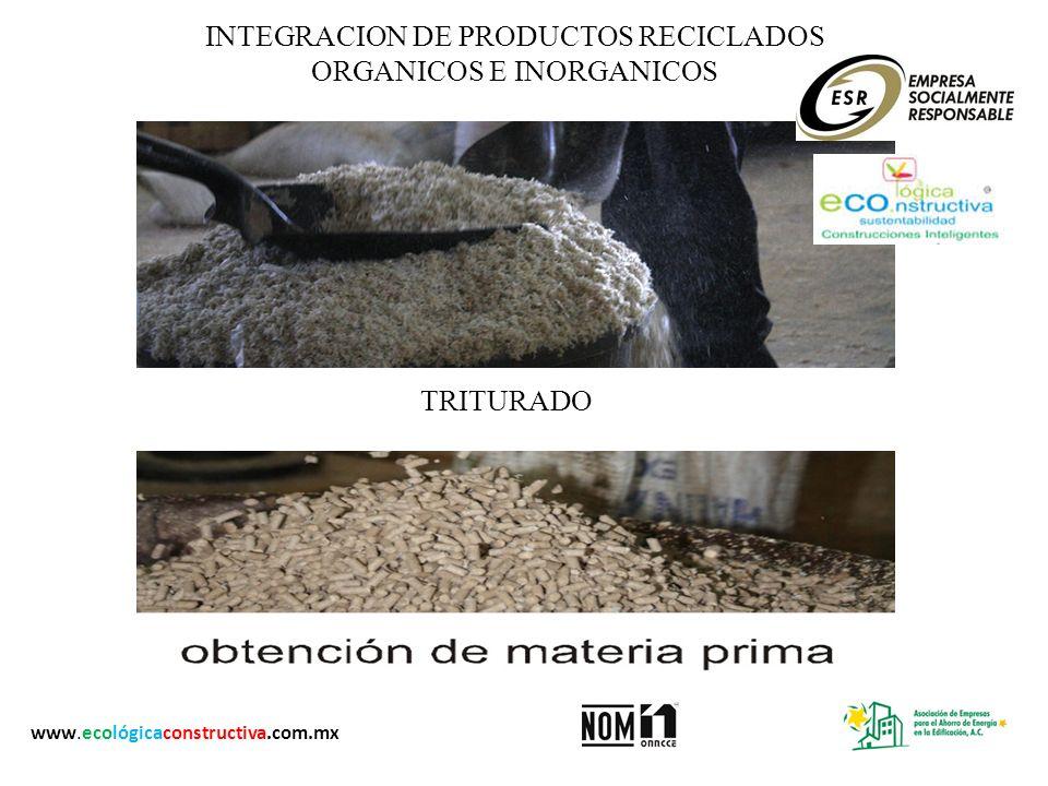 INTEGRACION DE PRODUCTOS RECICLADOS ORGANICOS E INORGANICOS