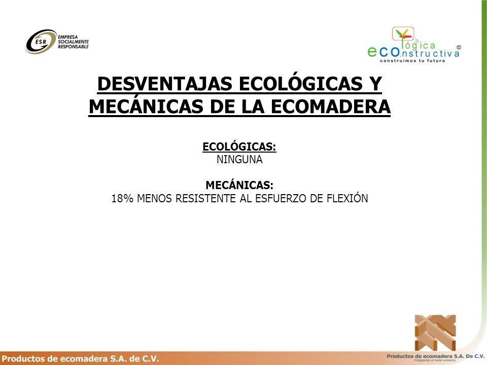 DESVENTAJAS ECOLÓGICAS Y MECÁNICAS DE LA ECOMADERA