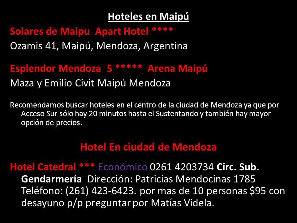Hotel En ciudad de Mendoza