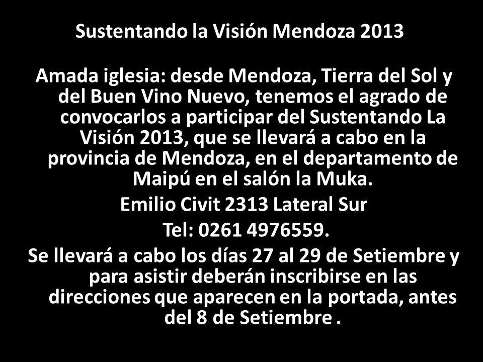 Sustentando la Visión Mendoza 2013 Emilio Civit 2313 Lateral Sur