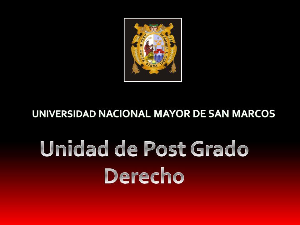 Unidad de Post Grado Derecho