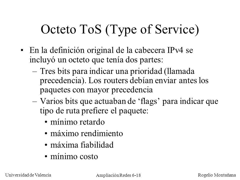 Octeto ToS (Type of Service)