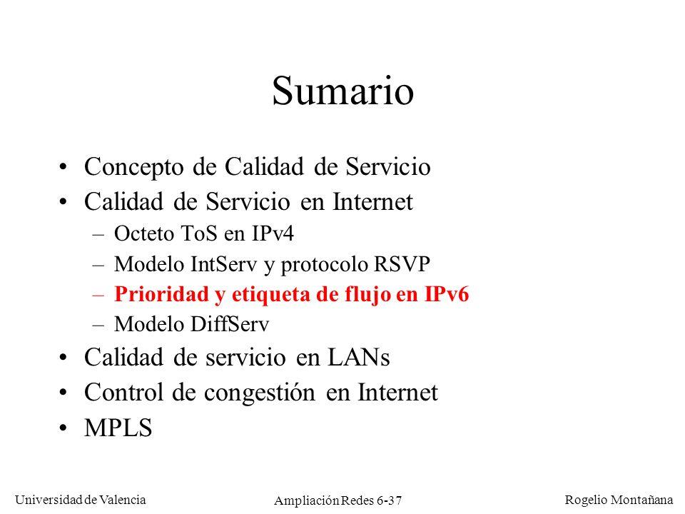 Calidad de Servicio (QoS)