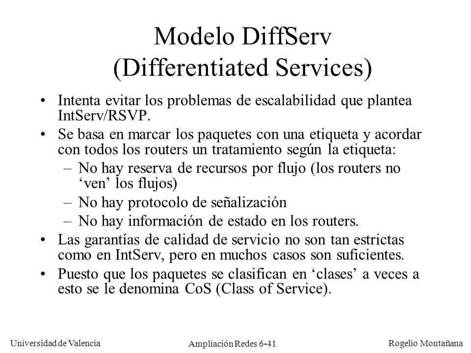 Modelo DiffServ (Differentiated Services)
