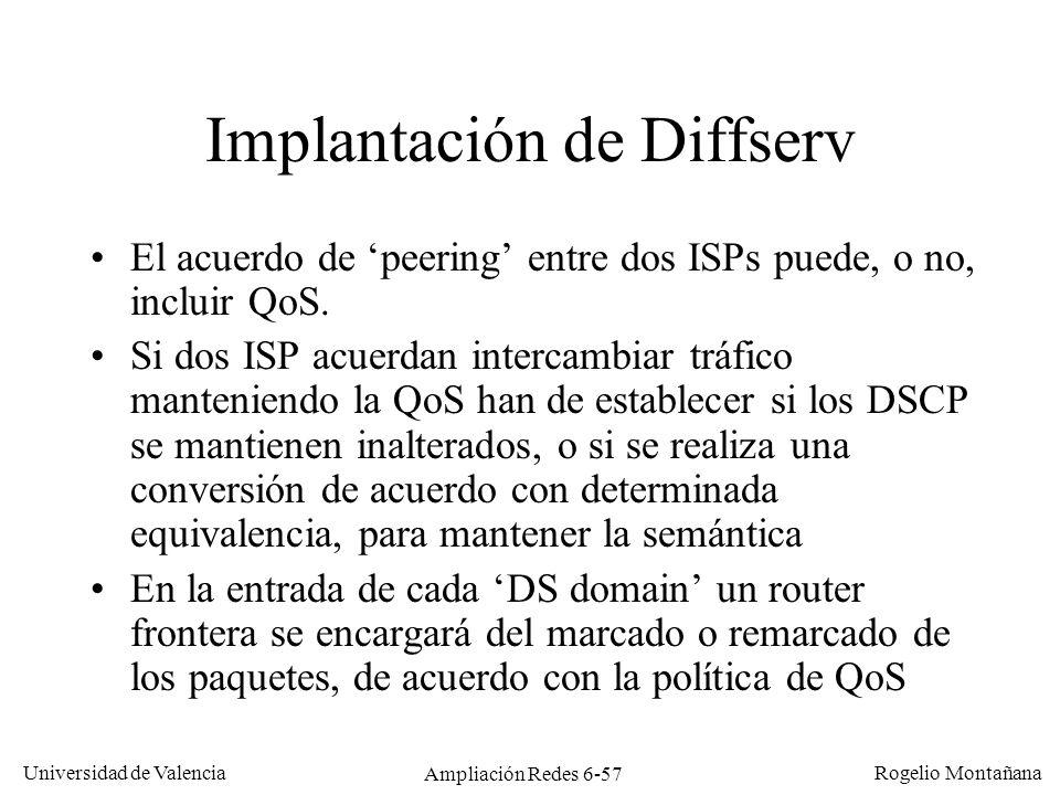 Implantación de Diffserv