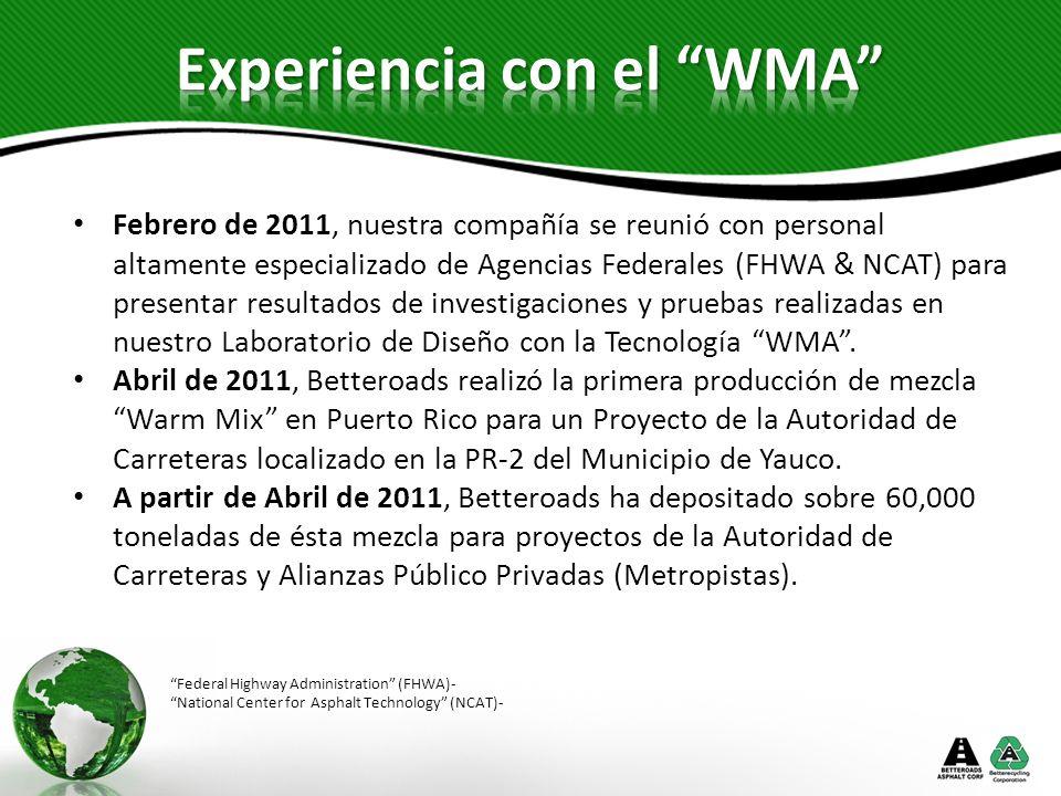 Experiencia con el WMA