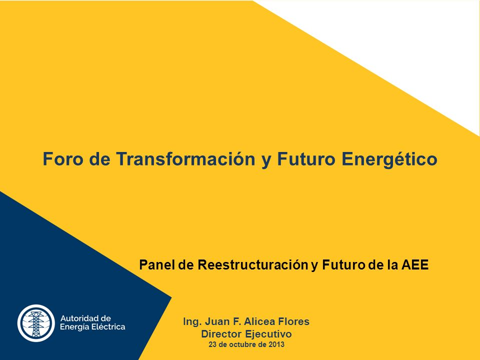 Foro de Transformación y Futuro Energético