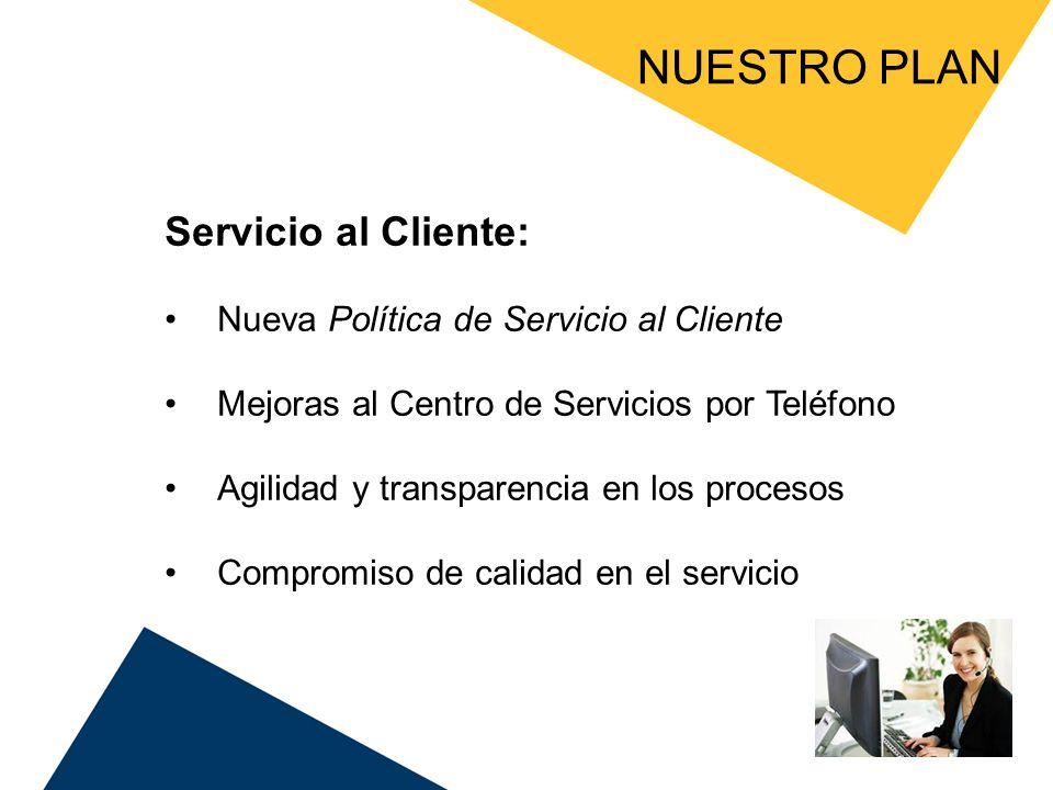 NUESTRO PLAN Servicio al Cliente: