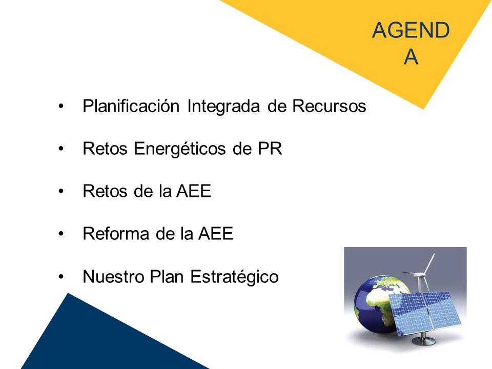 AGENDA Planificación Integrada de Recursos Retos Energéticos de PR