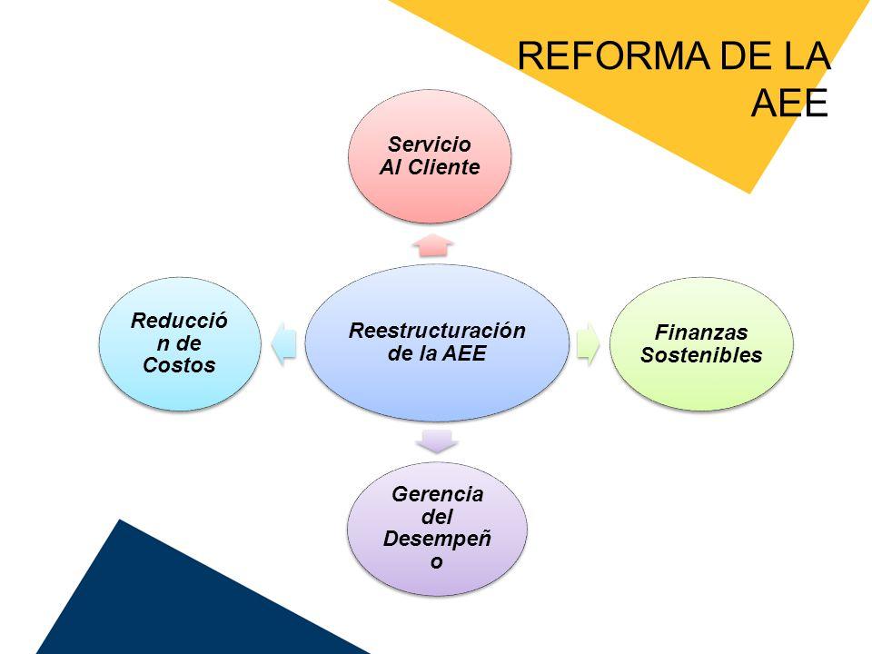 Reestructuración de la AEE Gerencia del Desempeño