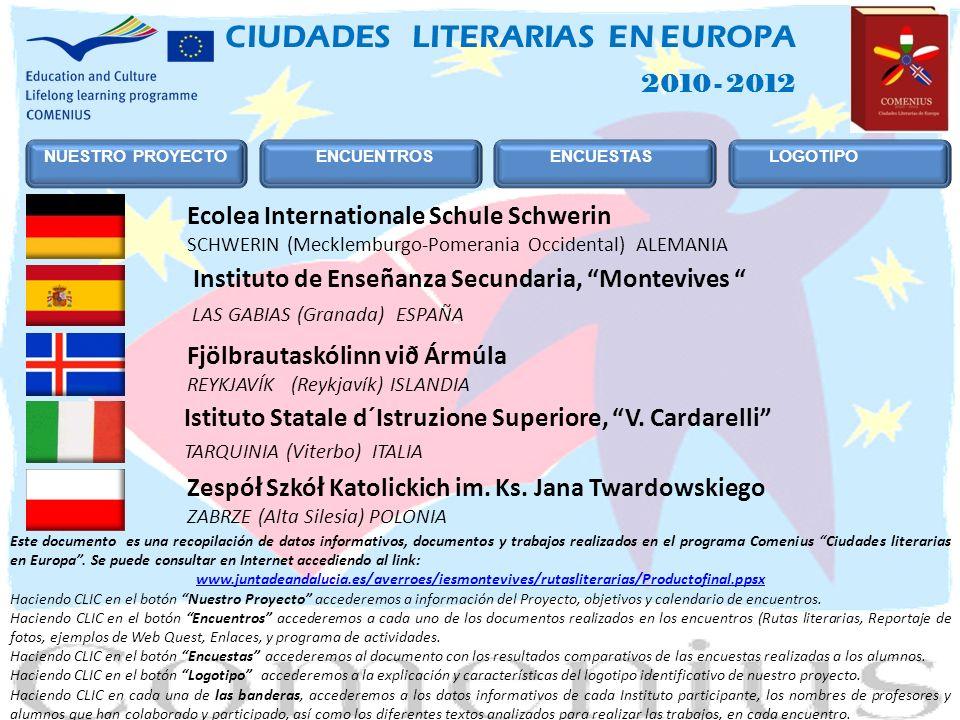 CIUDADES LITERARIAS EN EUROPA