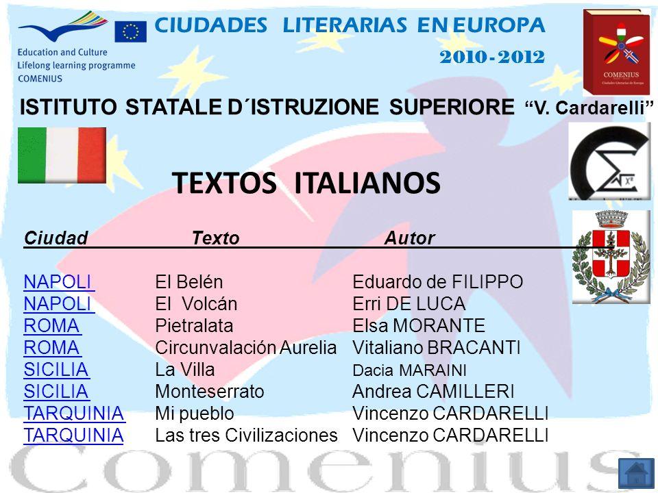 TEXTOS ITALIANOS CIUDADES LITERARIAS EN EUROPA
