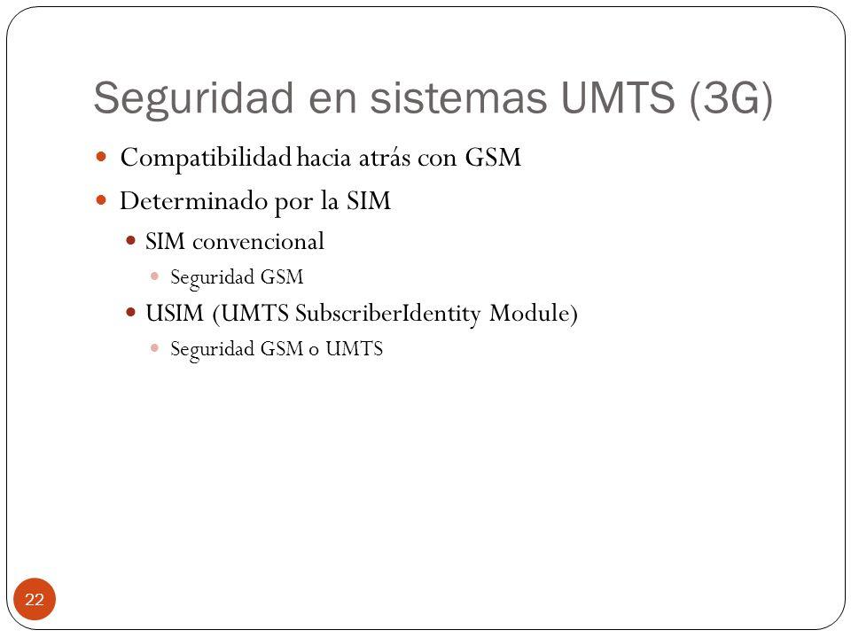 Seguridad en sistemas UMTS (3G)