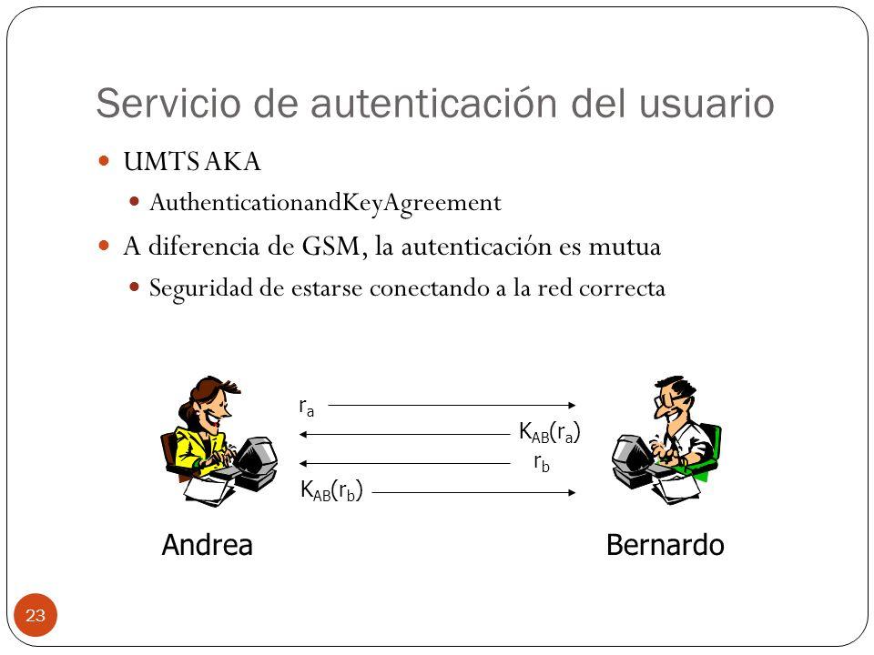 Servicio de autenticación del usuario