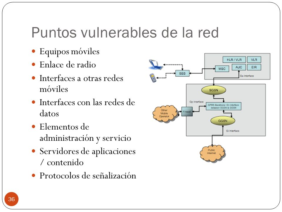 Puntos vulnerables de la red