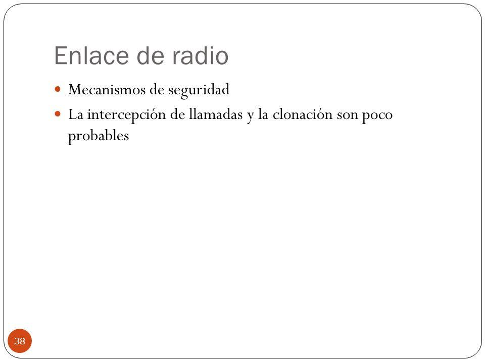 Enlace de radio Mecanismos de seguridad