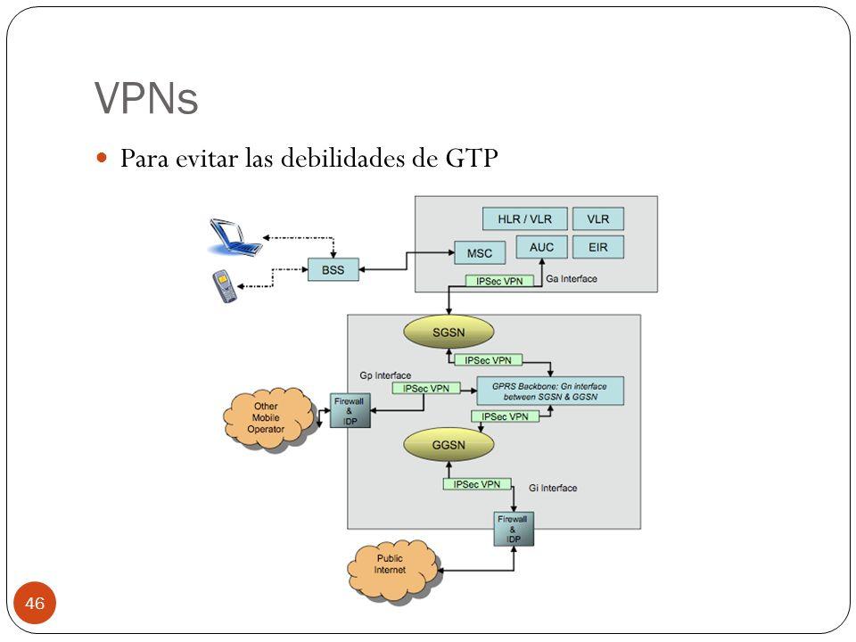 VPNs Para evitar las debilidades de GTP