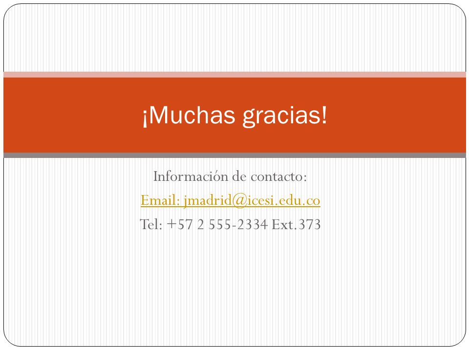 Información de contacto: