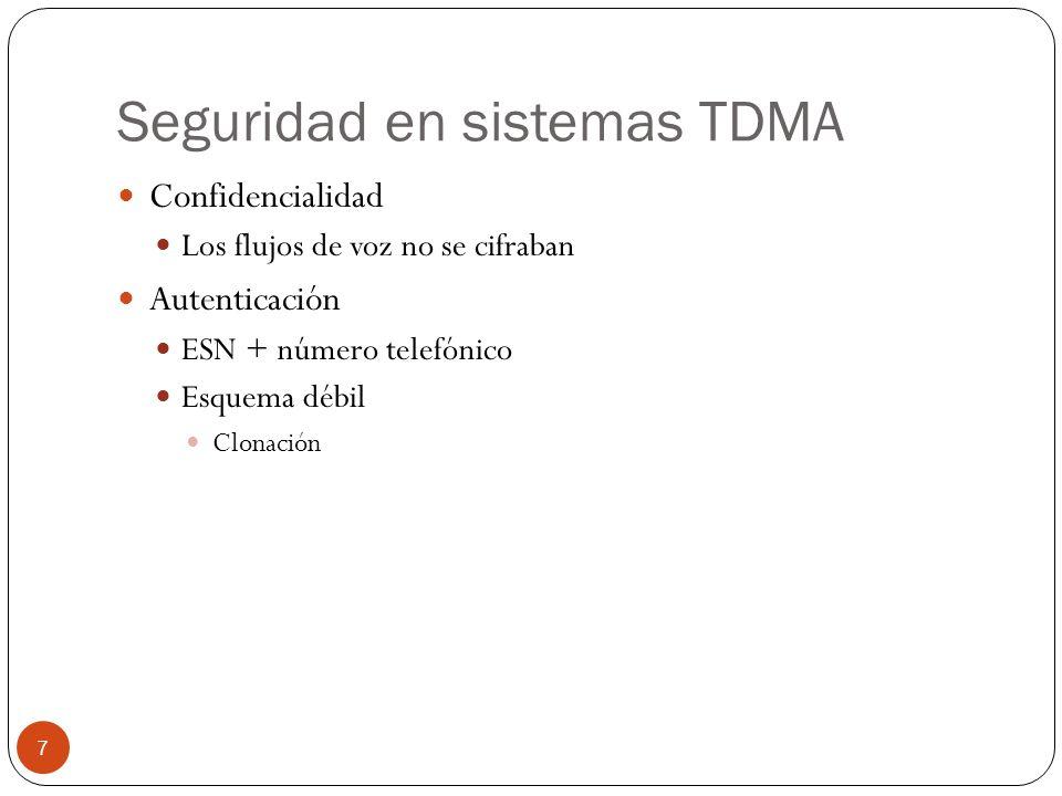 Seguridad en sistemas TDMA