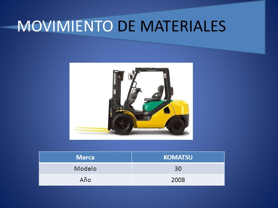 MOVIMIENTO DE MATERIALES