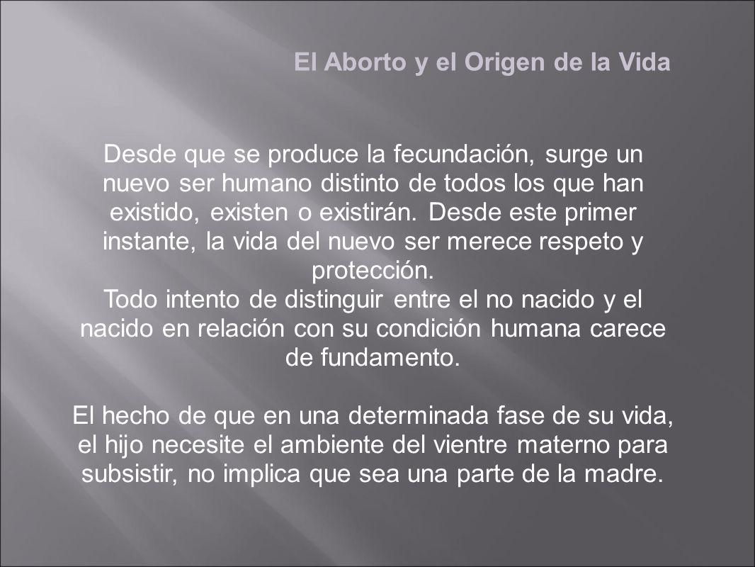 El Aborto y el Origen de la Vida