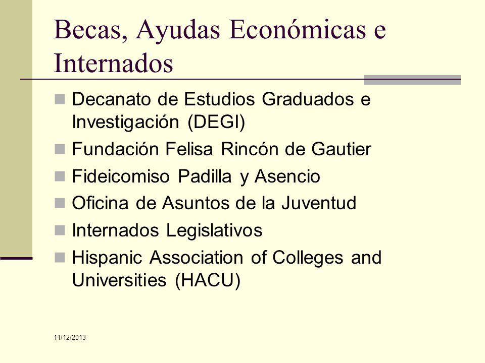 Becas, Ayudas Económicas e Internados